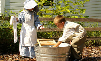 Palmetto Historical Park Children Washing Clothing
